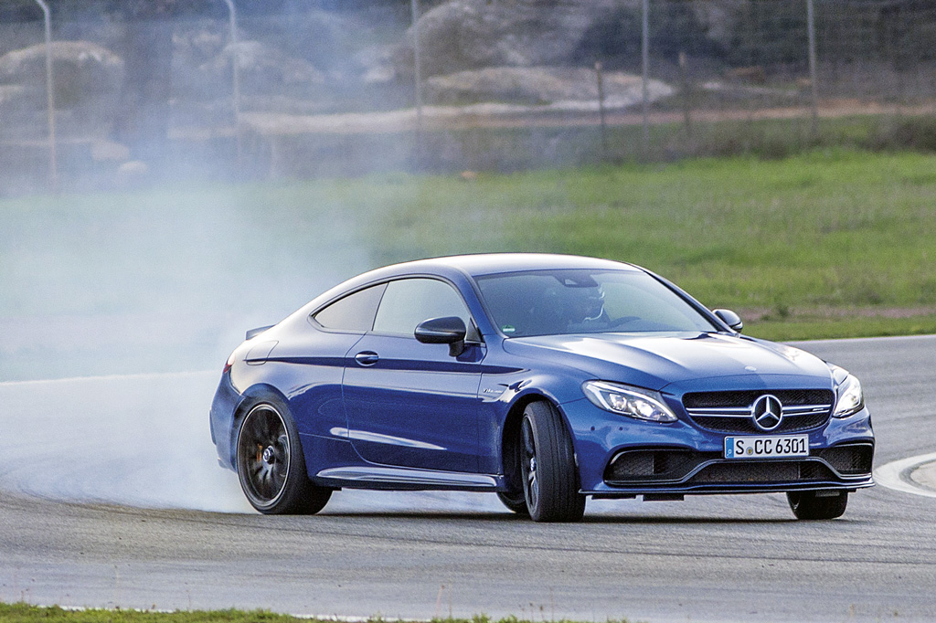 Mercedes-AMG C 63 S Coupe; Fahrvorstellung Malaga 2015; brillant